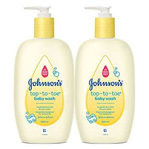 Johnson's Top-to-Toe Baby Wash (Pack of 2, 500ml)