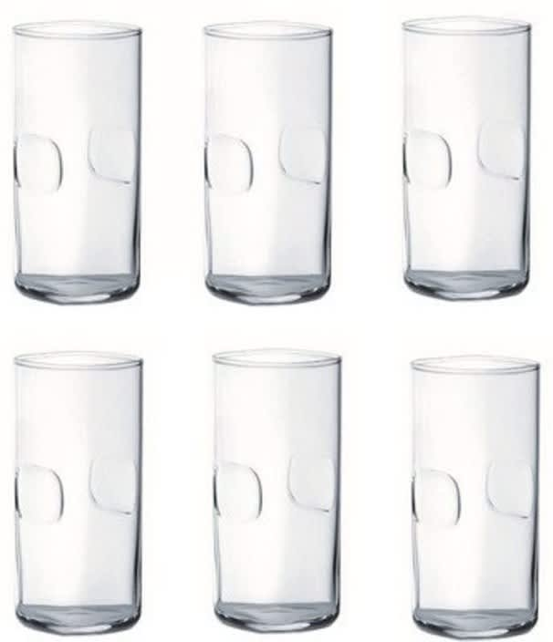Ocean Unity Glass Set  (290 ml, Clear, Pack of 6)
