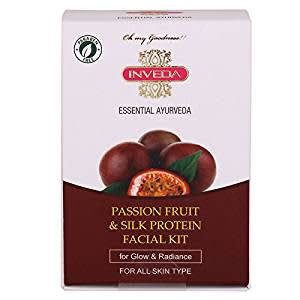 Inveda Passion Fruit and Silk Protein Facial Kit