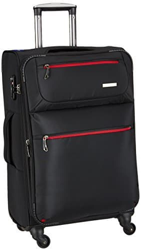 Princeware Elite Nylon 58 cms Black Softsided Carry-On (6896_Blk)
