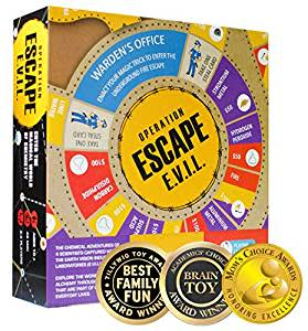 Kitki ESCAPE EVIL Fun Board Game Based On Chemistry & MAGIC. Academics' Choice Award winner.