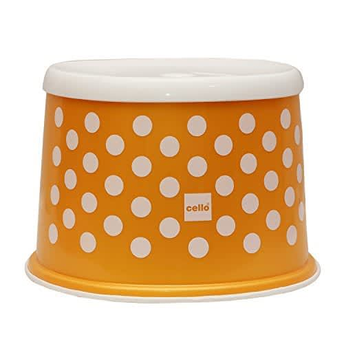 Cello Fusion Plastic Tuffy Stool, Gold