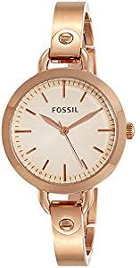 Fossil Analog Rose Gold Dial Women's Watch-BQ3026