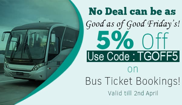 Ticketgoose : 5% off on bus ticket bookings this good friday