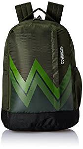 American Tourister 28 Ltrs Olive Casual Backpack (AMT TWIST BACKPACK 02 - OLIVE)