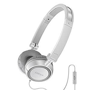 Edifier P650 On-Ear Headphones (White) with Microphone