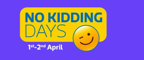 Flipkart No Kidding Days Sale : Upto 90% Off + 10% Instant On HDFC Bank Credit & Debit Cards