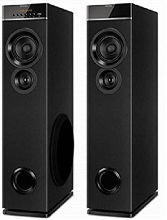 Philips IN-SPT6660/94 80 W Tower Speaker  (Black, 2.0 Channel)
