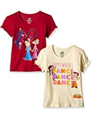 Chhota Bheem Girls' T-Shirt (Pack of 2)