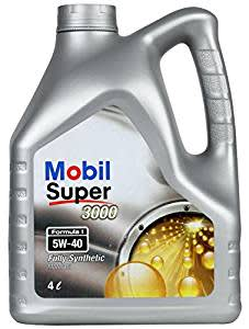 Mobil Super 3000 F1 5W-40 Synthetic Motor Oil (4 L)