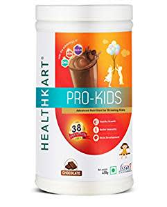 HealthKart Pro-Kids, Health & Nutrition Drink for Kids with DHA, Calicum, Vitamin D & Iron 400g, chocolate