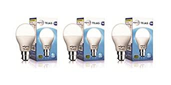 Wipro Tejas Base B22 9-Watt LED Bulb (Pack of 3, Cool Day Light)
