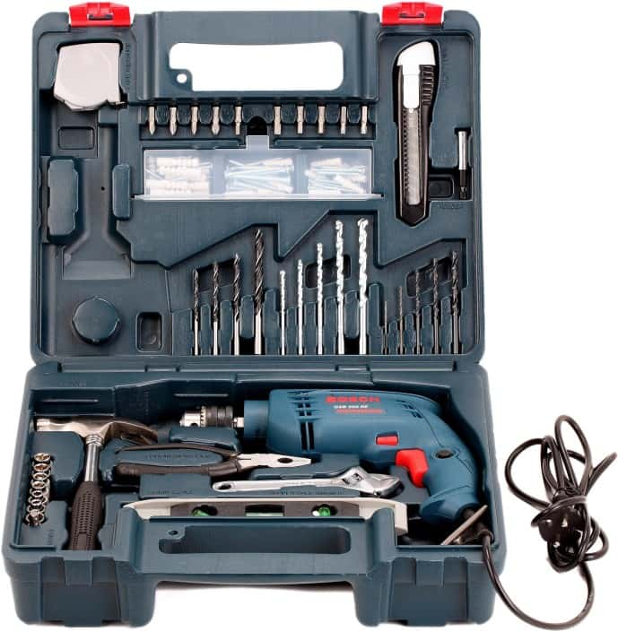 Bosch GSB 500 RE Power & Hand Tool Kit  (92 Tools)