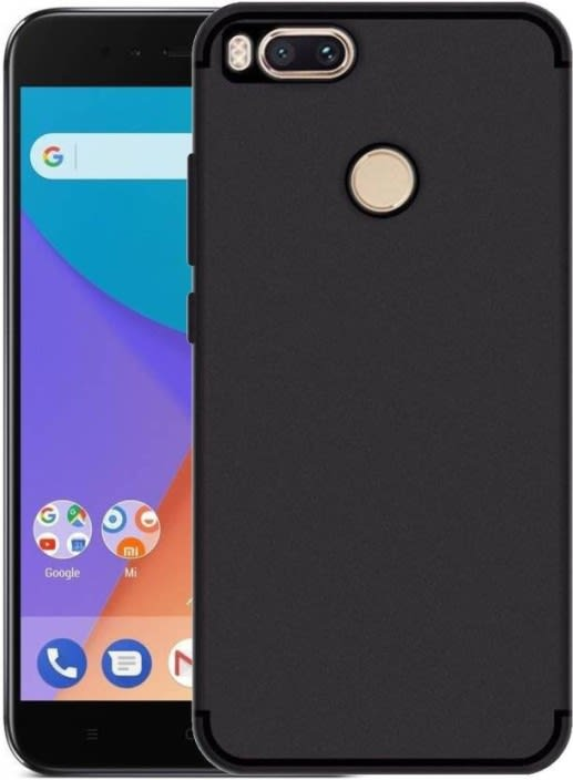 Flipkart SmartBuy Back Cover for Mi A1  (Black, Rubber)