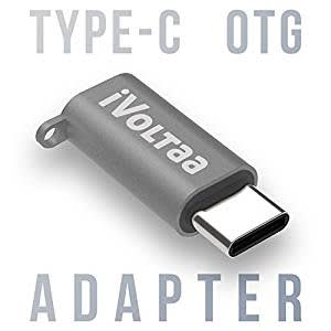 iVoltaa Micro USB to Type C OTG Adapter - Space Grey