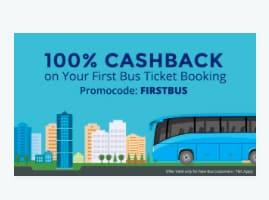 Flat 100% Cashback Up to ₹150 on First bus ticket bookings via Paytm