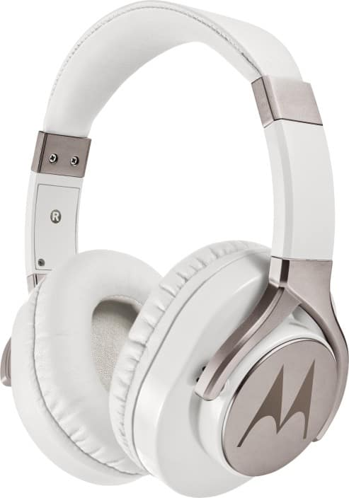 Motorola Pulse Max Wired Headset with Mic  (White, Over the Ear)