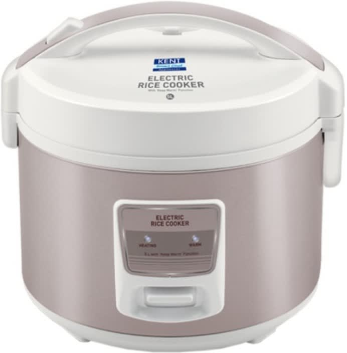 Kent 16014 Electric Rice Cooker  (5 L, Ivory, Brown)