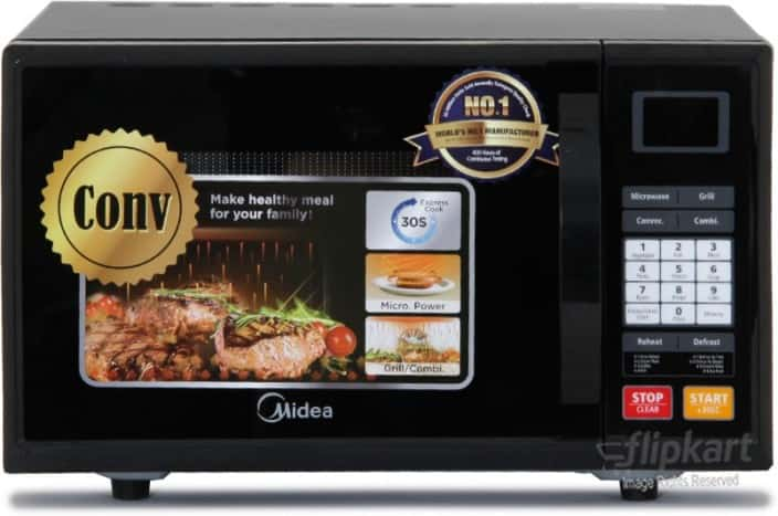 Carrier Midea 20 L Convection Microwave Oven  (ES820EJV-S, Black)
