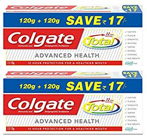 Colgate Total Advance Health Toothpaste - 240 g (Pack of 2)