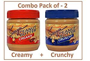 Sonya Creamy And Crunchy Peanut Butter 340 gm Combo Pack of 2