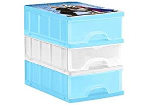 Keeeper Frozen Drawer Box (Multicolor, 3 Pieces)