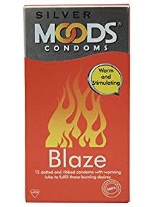 Moods Silver Condoms - 12 Count (Blaze)@Rs.100(33% OFF)